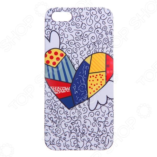 Чехол для iPhone 5 Mitya Veselkov «Цветное сердце с крыльями» чехол для iphone 5 printio с именем анна