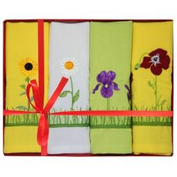 фото Комплект из 4-х гладкотканых полотенец подарочный BONITA «Полевые цветы»