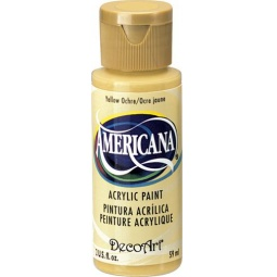 фото Краска акриловая DecoArt Премиум Americana. Цвет: желтая охра