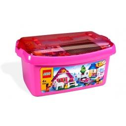 фото Конструктор LEGO большая коробка с розовыми кубиками