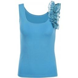 фото Топ Milana Style «Бритни». Цвет: голубой. Размер одежды: 46