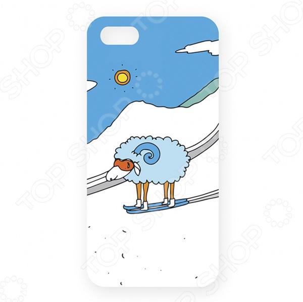 Чехол для iPhone 5 Mitya Veselkov «Овечка в горах»