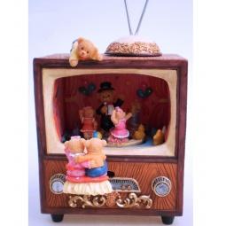 фото Музыкальная шкатулка Star Trading «Мишки смотрят телевизор»