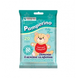 фото Салфетки антибактериальные для детей Pamperino №20