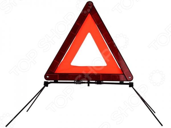 Знак аварийной остановки Зубр Эксперт 61151 - необходимый дорожный аксессуар в арсенале любого автолюбителя. С его помощью вы сможете обезопасить себя и других участников дорожного движения от непредвиденных ситуация. Яркий и заметный знак будет незаменимым в случае дорожно-транспортного происшествия, в случае аварийной остановки в местах, где остановка запрещена или там, где другие водители не смогут вовремя увидеть ваше авто. Знак хранится в специальном пластиковом футляре, который обеспечивает его удобное и компактное хранение в вашем багажнике. Высота знака составляет 53,5 см, а его платформа - 15 см.