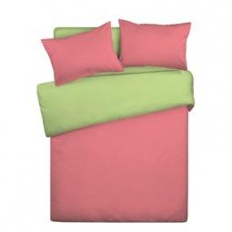 фото Комплект постельного белья Wenge Uno «КБВу-11». Цвет: салатовый, коралловый