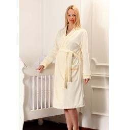 Купить Халат для беременных Nuova Vita 304.3. Цвет: кремовый