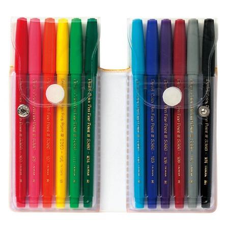 Купить Набор фломастеров Pentel Color Pen: 12 цветов