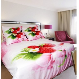 фото Комплект постельного белья Buenas Noches Strawberry. Satin Fotoprint. Евро