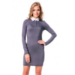 фото Платье Mondigo 8524. Цвет: темно-серый. Размер одежды: 42