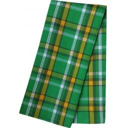 фото Полотенце вафельное BONITA «Шотландка. Лайм»