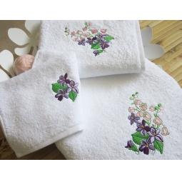 фото Комплект полотенец подарочный TAC Bahar. Цвет: белый