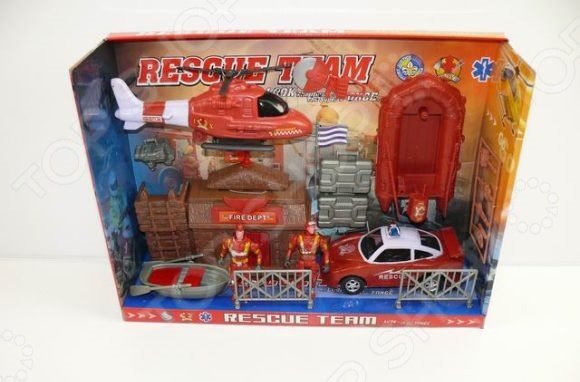 Набор игровой для мальчика Shantou Gepai «Пожарные» 859-110Игровые наборы для мальчиков<br>Набор игровой для мальчика Shantou Gepai Пожарные 859-110 станет хорошим подарком для малыша и сможет надолго его заинтересовать богатым набором возможностей. В комплект вошли следующие элементы: надувная лодка, вертолет, специальный автомобиль пожарной службы, фигурки пожарных и пожарная станция с аксессуарами. Набор великолепно подходит для сюжетно-ролевых игр и позволяет развить фантазию и мелкую моторику ручек ребенка. Все изделия выполнены из нетоксичного пластика, поэтому полностью безопасны для малыша.<br>