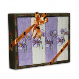 Купить Комплект из 4-х кухонных полотенец Mariposa Violet
