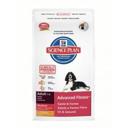 фото Корм сухой для собак средних пород Hill's Science Plan Advanced Fitness Medium с курицей. Вес упаковки: 12 кг