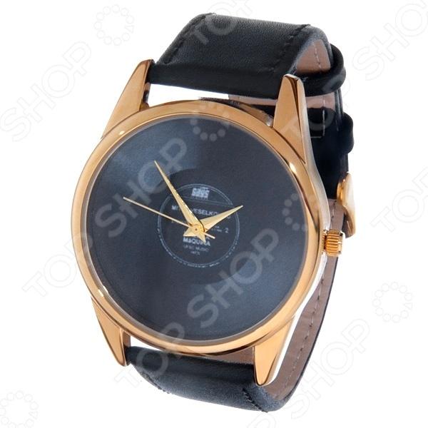 Часы наручные Mitya Veselkov «Пластинка» Gold