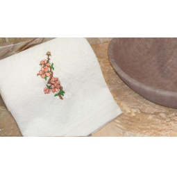 фото Полотенце подарочное с вышивкой TAC Cherry flowers. Цвет: белый
