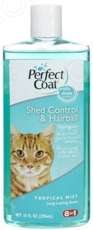 Шампунь для кошек 8 in 1 Shed Control Hairball укрепляющий шерсть с экстрактом тропических фруктов и антиоксидантами. Применение шампуня способствует тщательному очищению и укреплению шерсти, распутыванию колтунов, предотвращает выпадение волос. После использования такого средства шерстка вашей любимой кошки вновь станет блестящей, гладкой и приобретет свежий приятный аромат. Шампунь прекрасно очищает и увлажняет кожу, не вызывая раздражения. Регулярное применение способствует росту шерсти и появлению здорового блеска.
