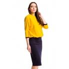 Фото Платье Mondigo 5174-2. Цвет: горчичный. Размер одежды: 48