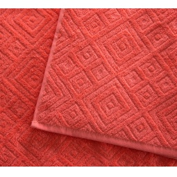 фото Полотенце махровое Asgabat Dokma Toplumy «Жаккард». Размер: 70х140 см. Цвет: коралловый