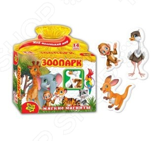 Игра развивающая на магнитах Vladi Toys «Зоопарк» 29887