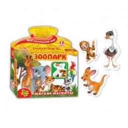 Купить Игра развивающая на магнитах Vladi Toys «Зоопарк» 29887