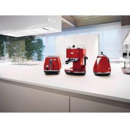 фото Набор приборов для завтрака DeLonghi ECO 311, KBO 2001, CTO 2003. Цвет: красный