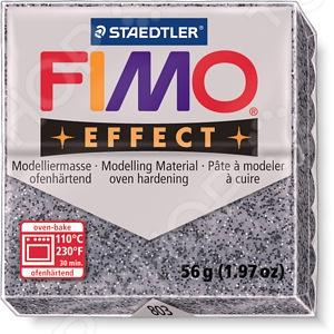 Глина полимерная Fimo Effect Granite выполнена на водной основе, поэтому очень быстро затвердевает при запекании в духовке. Имитация гранита достигается путем добавления специального порошка, который абсолютно безопасен и не меняет свойств глины. Пластика цвета натурального камня позволит добавить немного монументальности любому изделию.