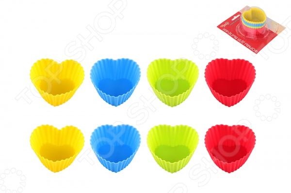 Набор форм для кексов Elan Gallery «Сердце» полотенце для кухни арти м джинсовое сердце