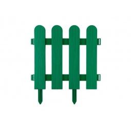фото Забор декоративный Grinda «Штакетник» 422209. Цвет: зеленый
