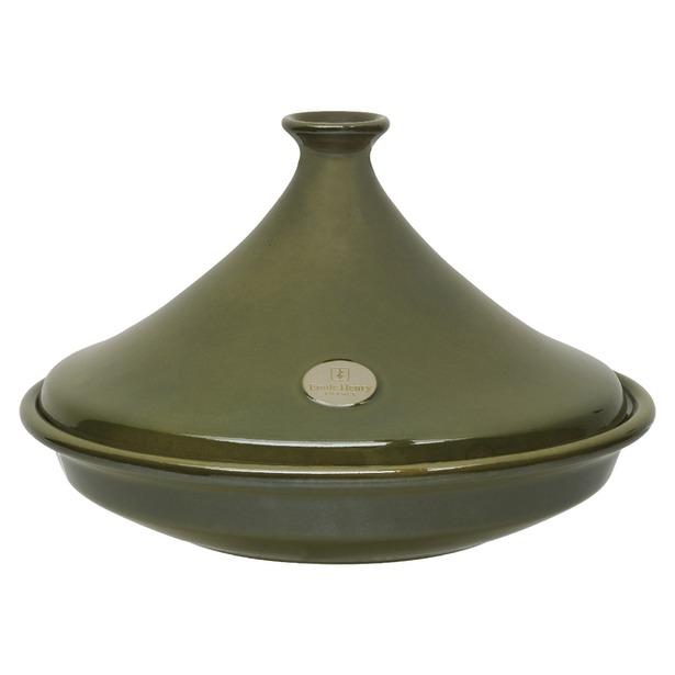 фото Тажин керамический Emile Henry. Цвет: оливковый. Объем: 2,5 л. Диаметр: 32 см