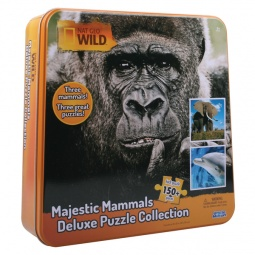 Купить Набор пазлов 3 в 1 Uncle Milton «Слон, горилла и дельфин»