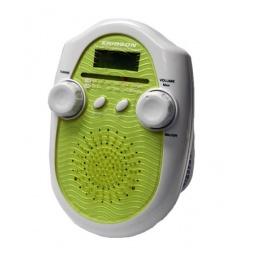 фото Радиочасы для душа ERISSON RWR-1388. Цвет: желтый, белый