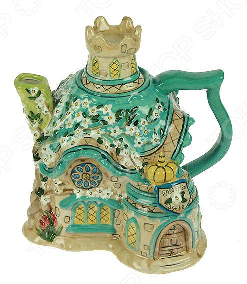 Чайник заварочный декоративный «Цветочный замок»Подарки для домохозяйки<br>Чайник заварочный декоративный Цветочный замок замечательное дополнение кухонной утвари, которое обязательно станет украшением интерьера и привлечет к себе множество восторженных взглядов. Изделие выполнено из прочной керамики этот материал идеально подходит для заваривания напитков, так как он не содержит вредных включений и компонентов. Заварочный чайник отлично сочетает в себе практичность и оригинальный красочный дизайн, благодаря чему он сделает чаепитие идеальным. Изделие украсит обеденный стол и создаст неповторимую атмосферу, чтобы собравшиеся гости или домочадцы чувствовали себя уютно и комфортно. Чайник не требует особого ухода, однако во время мытья не рекомендуется использовать агрессивные чистящие средства.<br>