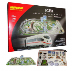 фото Набор железной дороги игрушечный Mehano ICE 3 «Сапсан» с ландшафтом