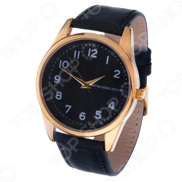Часы наручные Mitya Veselkov «Правильные цифры» Gold