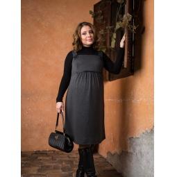 фото Сарафан для беременных Nuova Vita 2008.01. Цвет: серый меланж. Размер одежды: 50