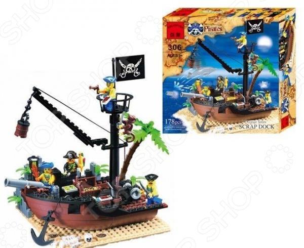Конструктор игровой Brick «Пиратская шхуна» цена