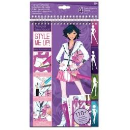 Купить Блокнот с трафаретами Style me up! «Модная коллекция»