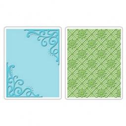 фото Набор форм для эмбоссирования Sizzix Textured Impressions Углы и узор сетки