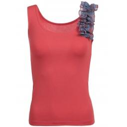 фото Топ Milana Style «Бритни». Цвет: красный. Размер одежды: 44