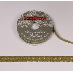 фото Тесьма кружевная ScrapBerry's. Ширина: 1,1 см. Цвет: зеленый
