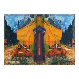фото Обложка для паспорта двухсторонняя Mitya Veselkov «Ван Гог. Терраса кафе ночью»