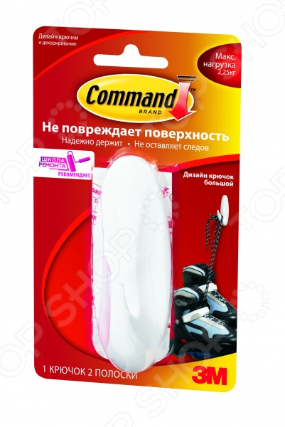 Крючок водоустойчивый Command 17083