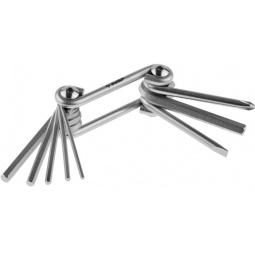 Купить Набор ключей имбусовых складных Зубр «Мастер» 27420-H8