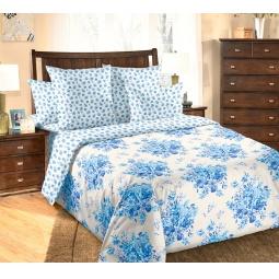 фото Комплект постельного белья Белиссимо «Амели». 2-спальный. Цвет: голубой. Размер простыни: 220х195 см
