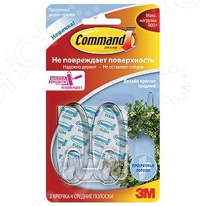 Набор крючков самоклеящихся Command 17091CLR