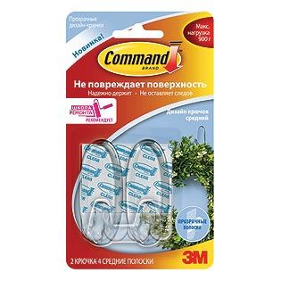 Купить Набор крючков самоклеящихся Command 17091CLR