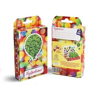 Купить Набор подарочный для выращивания Happy Plant «Живая открытка: Поздравляю-Поздравляю!»