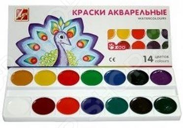 Акварель медовая Луч «Зоо»: 14 цветовУголь. Пастель. Краски. Блестки<br>Не секрет, что рисование является для детей одним из самых любимых и увлекательных занятий. Оно, в полной мере, раскрывает творческий потенциал и способствует развитию у малышей фантазии и воображения. Помимо этого, рисуя или разукрашивая, ребенок учится правильно сочетать цвета, запоминает их названия и основные оттенки. Акварель медовая Луч Зоо станет отличным приобретением для юного художника. Палетка красок состоит из 14-ти, наиболее часто используемых цветов: черного, синего, зеленого, красного, желтого, светло-коричневого, белого и т.д. Акварель является водорастворимой краской и содержит в своем составе органические пигменты. В качестве связующего вещества используется натуральный пчелиный мед. Среди основных преимуществ медовой акварели можно отметить яркий насыщенный цвет красок и устойчивость к выгоранию под действием прямых солнечных лучей. Товар прошел строгую сертификацию и соответствует всем европейским нормам безопасности, применяемым к данному типу продукции знак СЕ .<br>